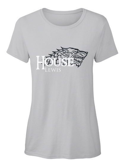 Lewis Family House   Wolf Sport Grey T-Shirt Front