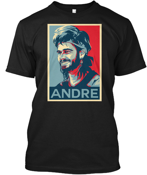 Andre Agassi Hope Poster Shirt Black T-Shirt Front