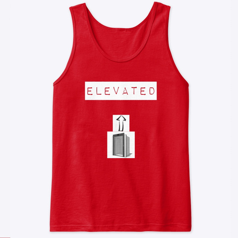 Elevated Tank Red T-Shirt Front