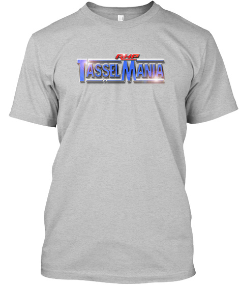 Rhp Tassel Mania Light Heather Grey  T-Shirt Front
