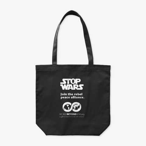 Stop Wars Black T-Shirt Front