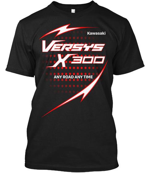 Versys X300 Black T-Shirt Front