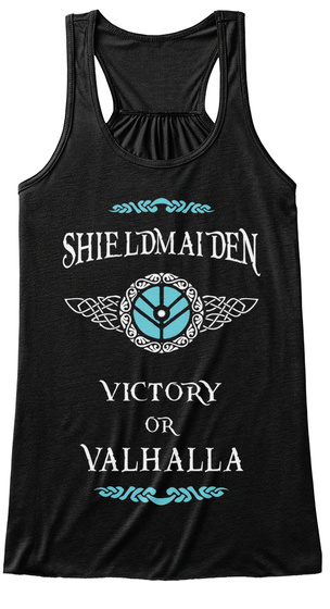 Shield Maiden Victory Of Valhalla  Black Women's Tank Top Front
