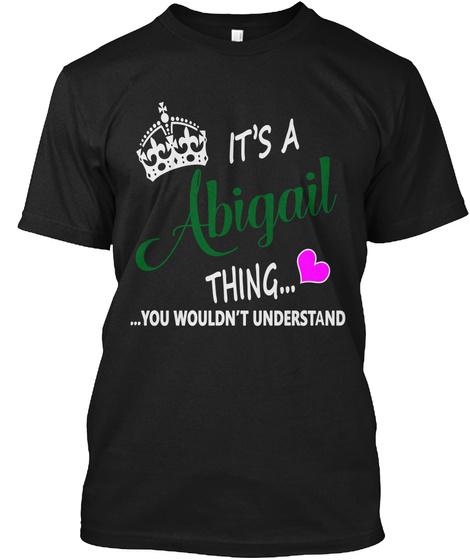 Abigail Black T-Shirt Front