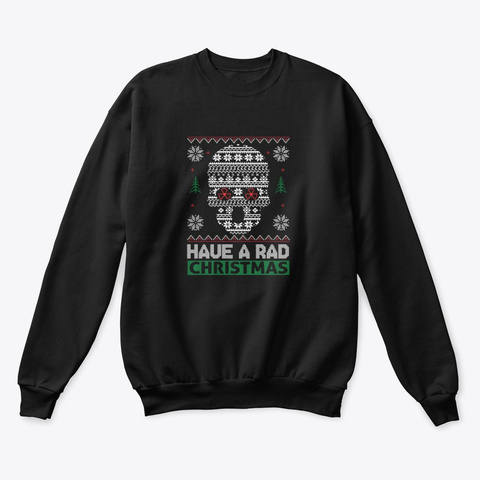Radiology Ugly Christmas Sweater Black T-Shirt Front