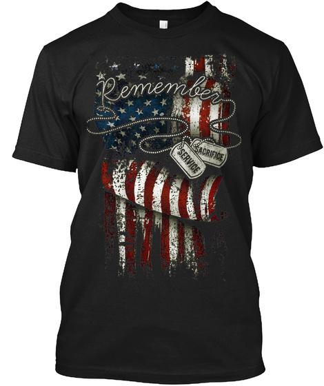 Remember!! Black T-Shirt Front