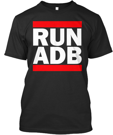 Run Adb Black T-Shirt Front