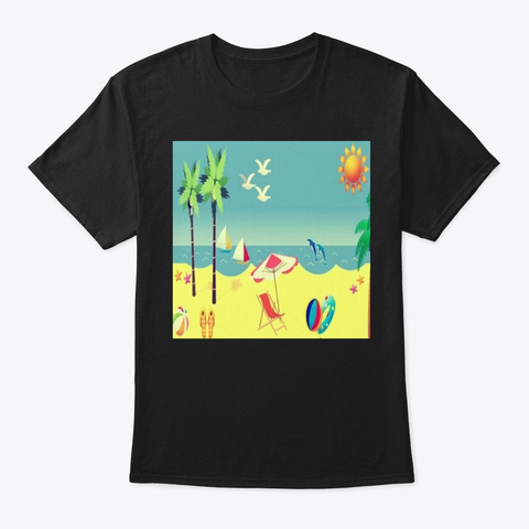 Holiday Design Summe Black T-Shirt Front