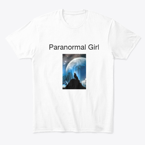 Paranormal Girl White T-Shirt Front