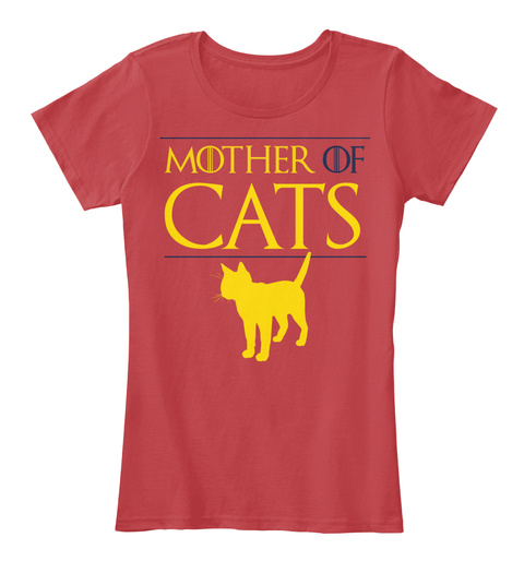 Mother Of Cats Classic Red Women's T-Shirt Front