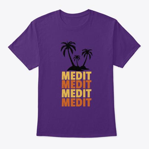 Medit Dn B Beach Drum And Bass  Purple T-Shirt Front