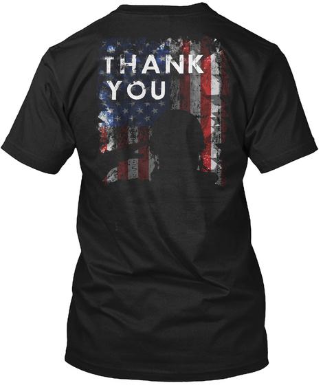 Thank You Black T-Shirt Back