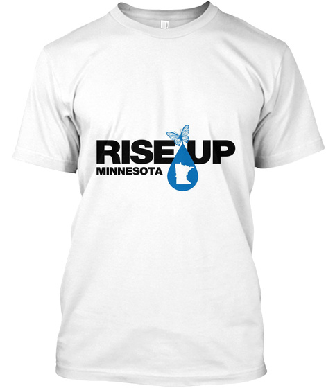 Rise Up Minnesota White T-Shirt Front