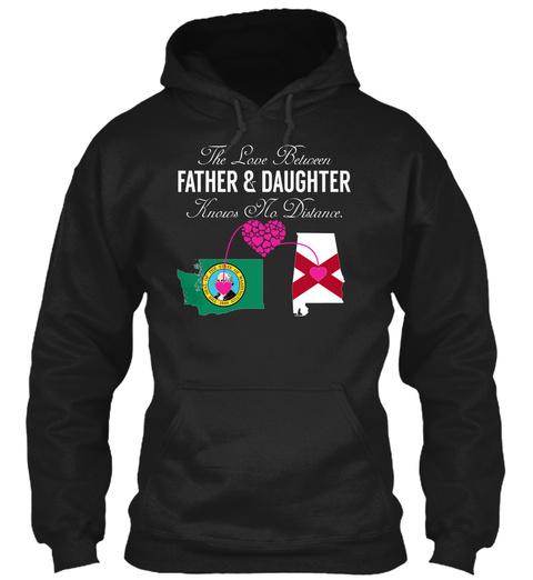 Father Daughter   Washington Alabama Black T-Shirt Front