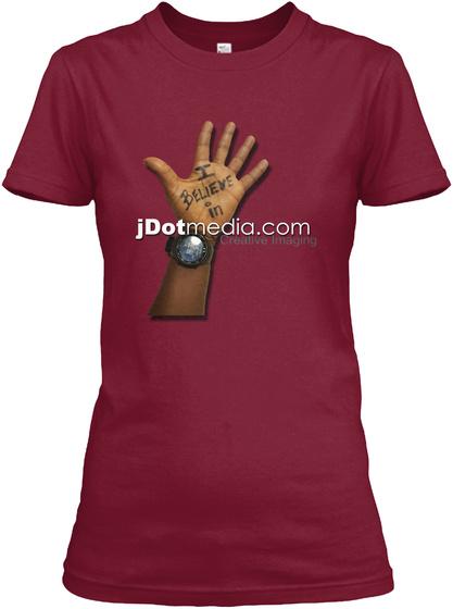 J Dotmedia.Com Cardinal Red T-Shirt Front