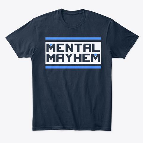 Mental Mayhem New Navy T-Shirt Front