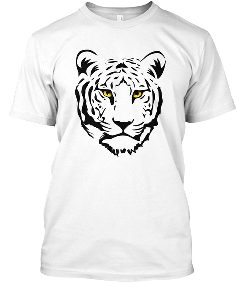 Tiger The Cat King White T-Shirt Front