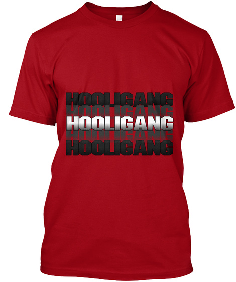 Hoougang Hoougang Hoougang Hoougang Hoougang Deep Red T-Shirt Front