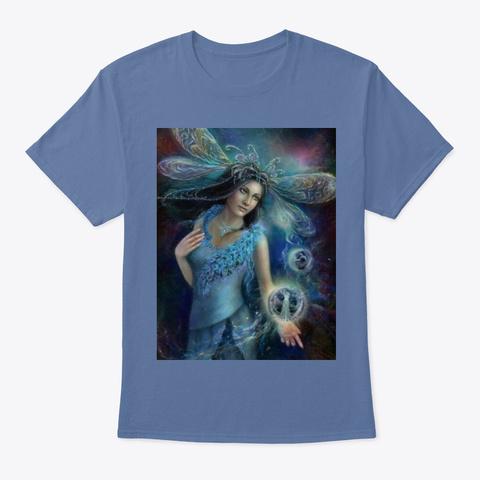 Queen Fairy  Denim Blue T-Shirt Front