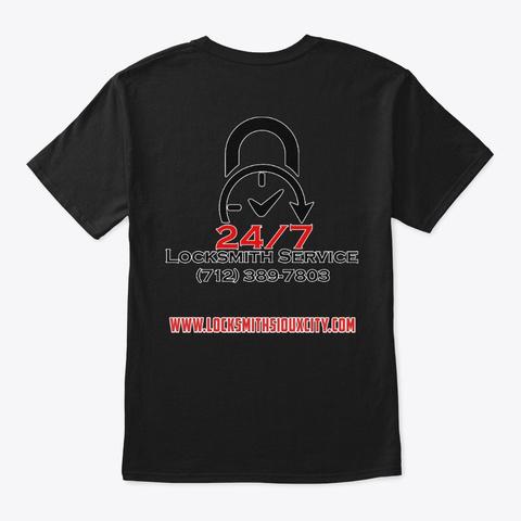 Locksmith Service Shirt Black T-Shirt Back