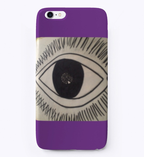 Purple Eye  Purple T-Shirt Front