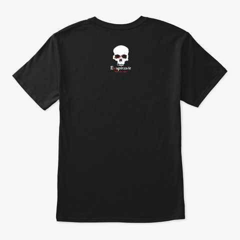 Haunted California Black T-Shirt Back