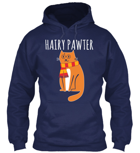 Hairy Pawter Navy T-Shirt Front