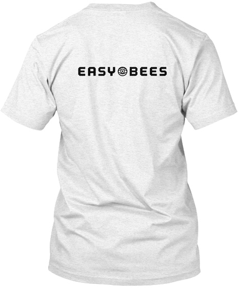 Easybees Heather White T-Shirt Back