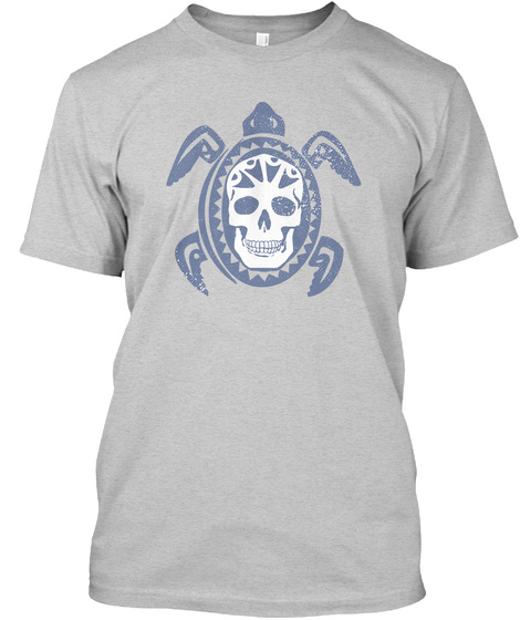"""Dead Sea Turtle"" Light Steel T-Shirt Front"