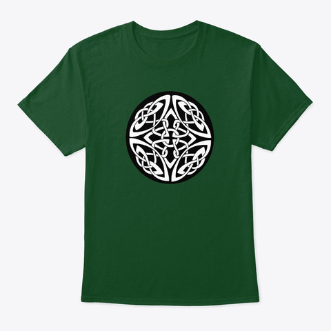 Celtic Cross | Irish Tribal Art Deep Forest T-Shirt Front