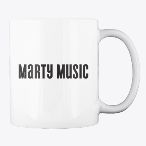 Marty Music World's Best Guitar Teacher White T-Shirt Back