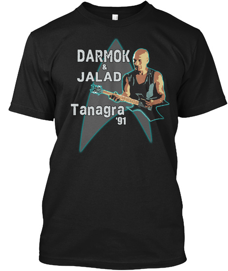 Darmok And Jalad At Tanagra Black T-Shirt Front