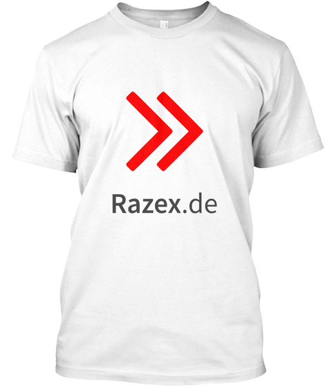 Razex .De White T-Shirt Front