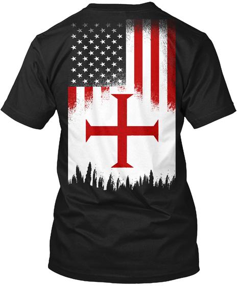 American Crusader   Limited Edition Black T-Shirt Back