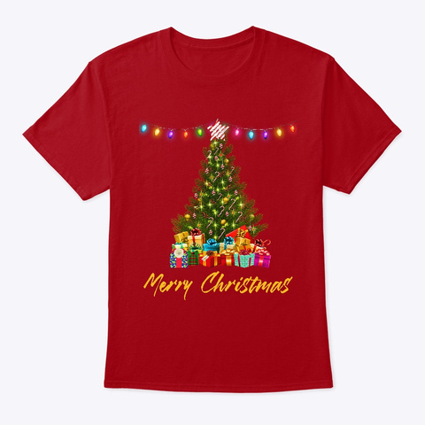 Christmas Tree Deep Red T-Shirt Front