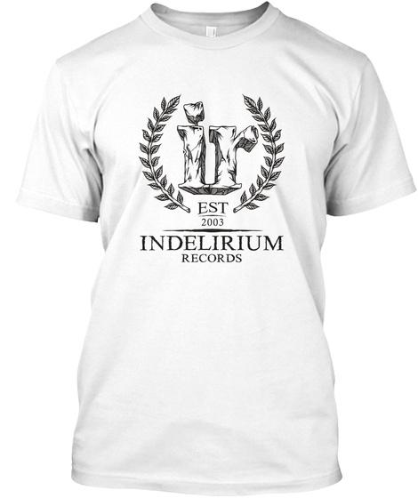 Indelirium Logo 10 Years White T-Shirt Front