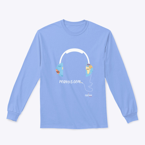 Connecting The World With Podcasts Light Blue T-Shirt Front