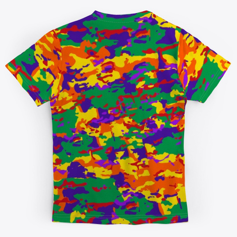 Rainbow Camo Standard T-Shirt Back