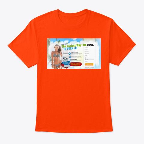 Meta Keto Boost Reviews  Orange T-Shirt Front