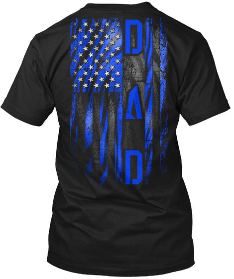 Dad Black T-Shirt Back