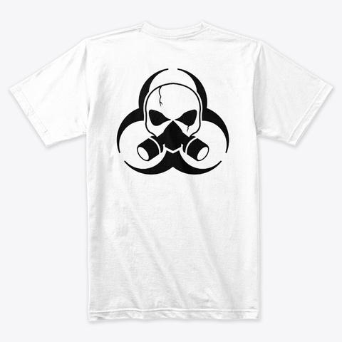 Hazard White T-Shirt Back