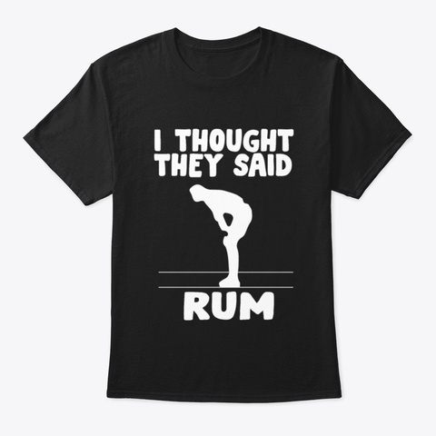 Rum Fitness Alcohol Beer Party Sports Gi Black T-Shirt Front