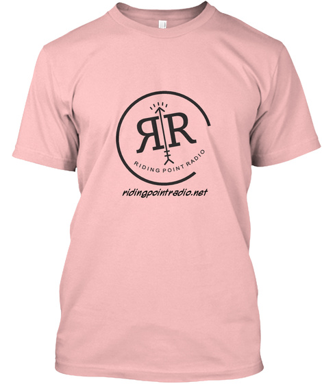 R Riding Point Radio Ridingpointradio.Net Pale Pink T-Shirt Front