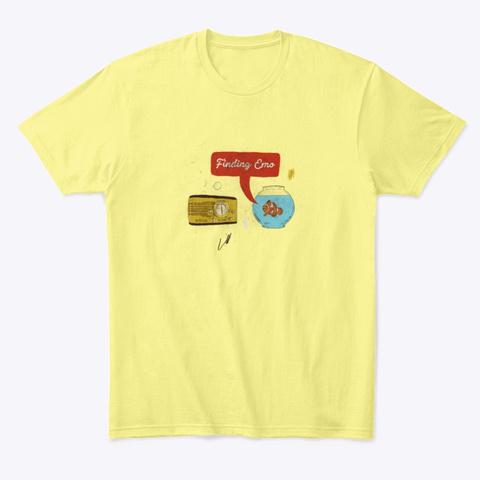 Finding Emo Lemon Yellow  T-Shirt Front