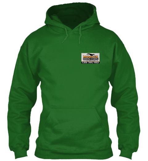 Roofing Logo Apparel Irish Green T-Shirt Front