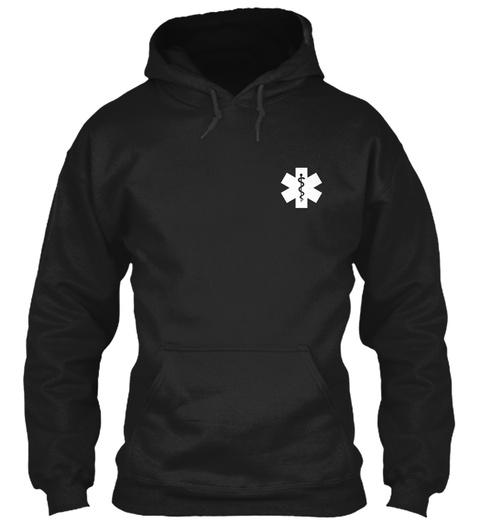 Proud Paramedic Hoodie Black T-Shirt Front