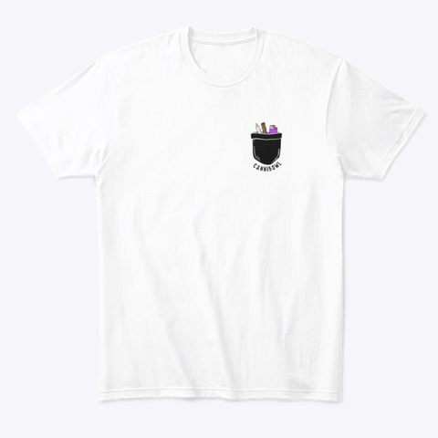 Rolled Out Of Pocket White T-Shirt Front