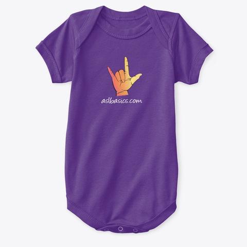 Aslbasics Purple T-Shirt Front
