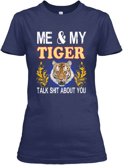 Me My Tiger About You Navy T-Shirt Front