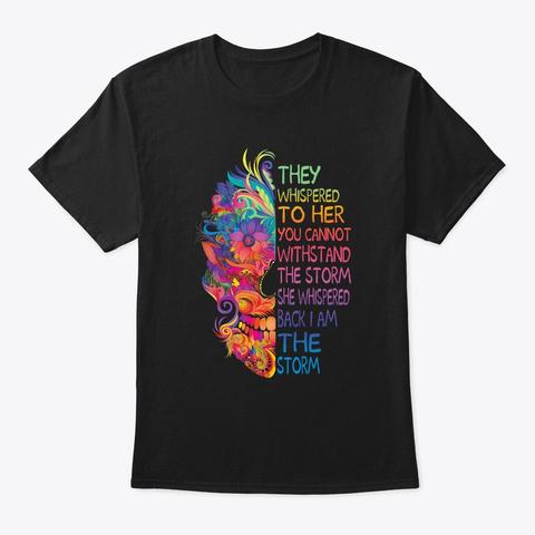 Flower Children Storm Hippie Costume Black T-Shirt Front